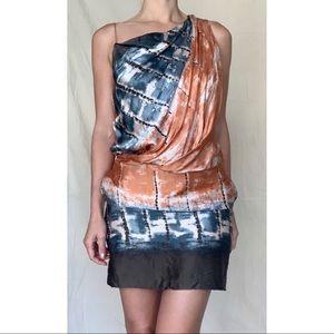 Robert Rodriguez Abstract Color Dress w/ pockets